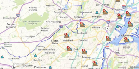 Pse&G Power Outage Map Widespread Power Outages Hit Scotch Plains Fanwood, Other Union