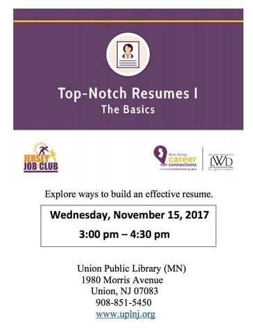 top notch resumes
