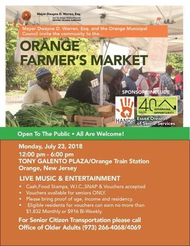 Orange Farmer's Market Opens Today | TAPinto