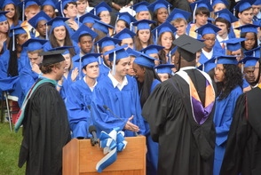 CBS News Anchor Jim Axelrod Takes Selfie During Commencement Address to 522 Montclair H.S. Graduates, photo 13