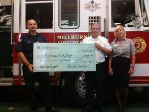 Millburn Fire Department Receives Grant