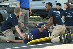 Students Learn EMS Procedures in Mass Casualty Drill, photo 1