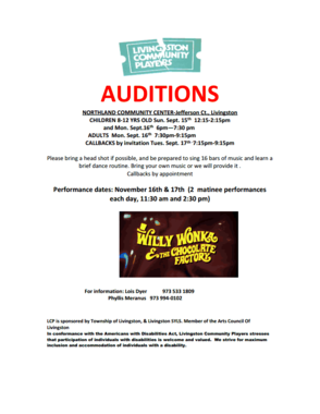 Livingston Community Players to Hold Auditions for 'Willy Wonka and the Chocolate Factory', photo 1