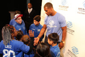 Victor Cruz at Paterson Boys & Girls Club