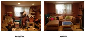 Den - Before/After