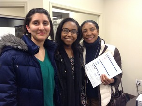 Club Secretaries: Ilina Ghosh and Evanic Anglade with Mrs. Anglade (holding our membership club form)