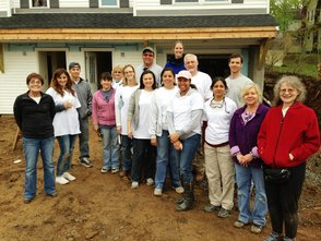 Morris Habitat Makes Headway on New Duplex With Help from Local Corporate Volunteers