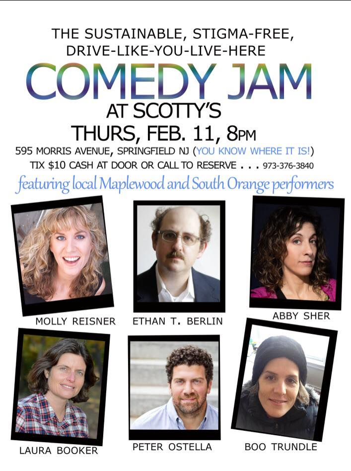 South Orange and Maplewood Comedians Take the Stage for the First Sustainable, Stigma-Free, Drive-Like-You-Live-Here Comedy Jam, photo 1