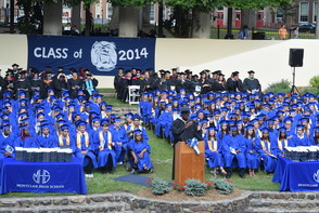 CBS News Anchor Jim Axelrod Takes Selfie During Commencement Address to 522 Montclair H.S. Graduates, photo 9