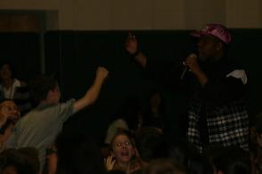 Tru Fam high-five at Lazar