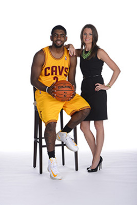 Kyrie Irving and Laura Bush