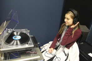 A Student Enjoying a Record
