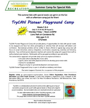 Two Warren Teachers Try CAN Camp For Special Needs Campers Open To All Area Residents, photo 1
