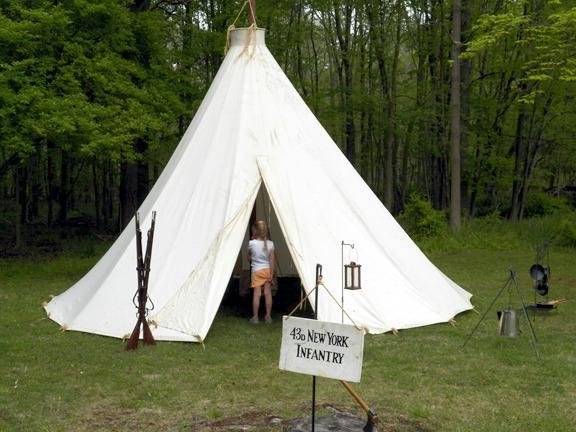 Civil War Tents : Civil war reenactors bring american history to life in