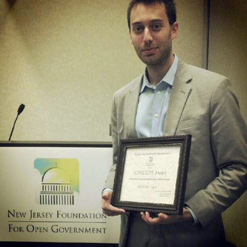 Torpey Honored for South Orange's Open Government Efforts