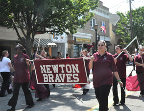 Newton High School Marching Band.