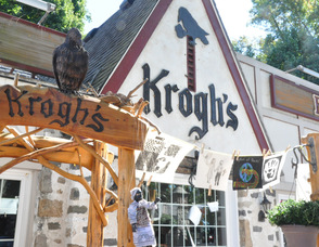 The outside of Krogh's Restaurant & Brew Pub decorated for the event.