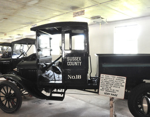 Sussex County's first DPW vehicle.