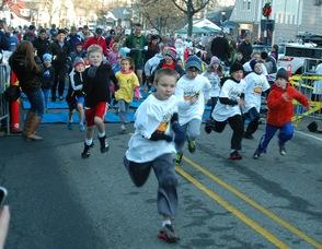 Fun Run Participants at the Turkey Trot.