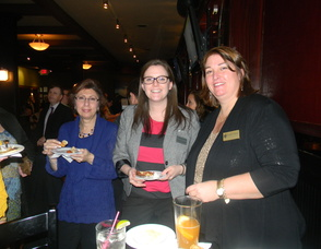 Executive Director of the Chatham Chamber of Commerce Carolyn Cherry with attendees