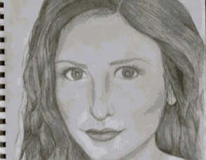 Maggie Fisher, a self-portrait.