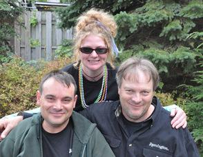 From left to right: Scott Harris, Erin Braun, and Paul Harris.