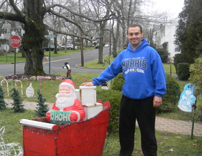 Marco Pagliuca with his decorations