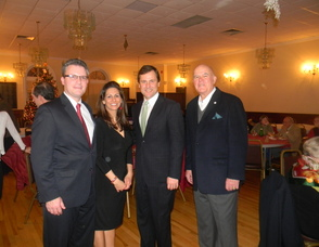 Chair of the SRCC Lisa Allen with her husband Pat and Senator Kean and a member of the organization