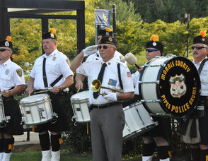 """Taps"" with Bob Caggiano, and the Police Pipes and Drums of Morris County."