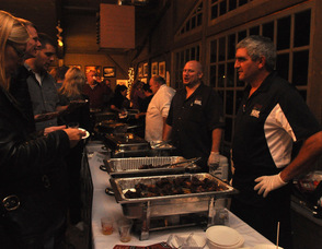 Guests stop to Down To The Bone for barbecued fare.
