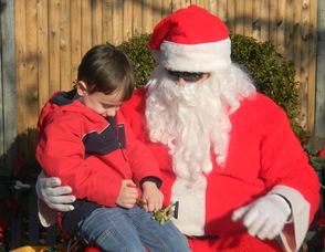 Max Hansbrough with Santa