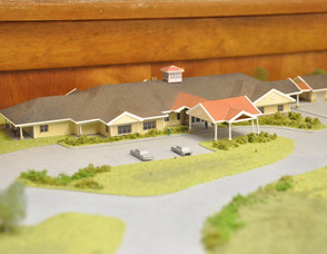 Rendition of the upcoming hospice building planned for construction in 2013.