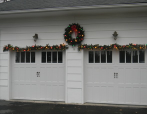 Decorations on the Nugent garage