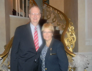 President of the New Jersey State First Aid Council Howard Meyer with his wife Sue