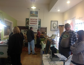 Visitors pack themselves in to the Winter Farmers' Market, and visit vendors including Cherutabis Farm, Glenmalure Farm, and Race Farm.