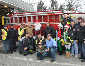 Some of the Newton Fire Department's Operation Santa Team.