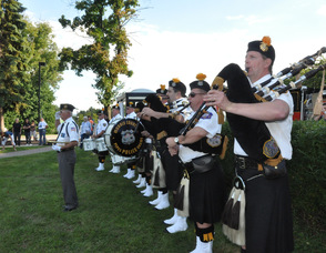The Police Pipes and Drums of Morris County.