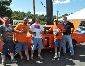 Keith Wetzel of Vernon owns a General Lee with wife, Sandy. Pictured with Wetzel is his crew: Dave Lambert of Vernon, Ray Fairweather of Montague, RAndy Jacobs of Mine Hill, and Pat Magnus of Harvard, MA.