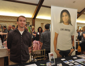 Sean Hyland at the booth for the United Way.