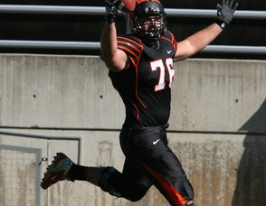 Princeton's Spenser Huston Scores Against Brown on Saturday