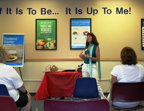 Weight Watchers Leader, Sharon McNeil, sharing her personal success story