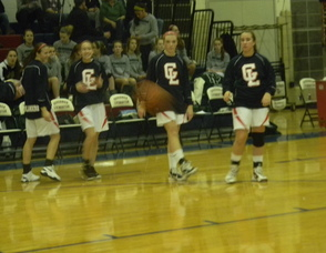 GL Varsity Girls Basketball team warming up