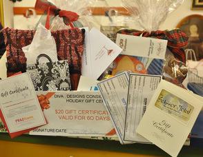 The gift basket won by Lainie Oleske of Hamburg.