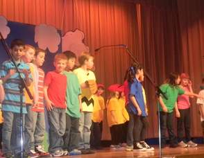 Children performing in the show