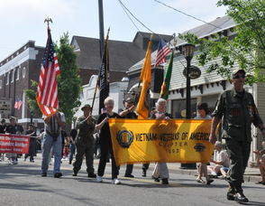 Vietnam Veterans march in the parade.