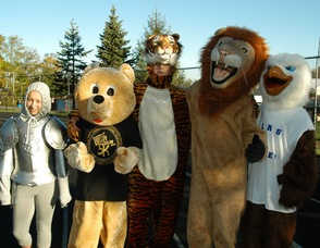 Mascots take to the track for their own race.