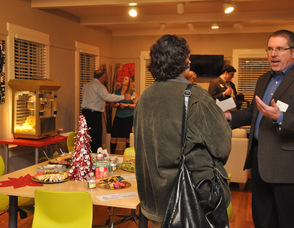 Small business owners in one of the main rooms at the C3 Workplace.