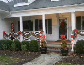 Decorations on the Nugent porch