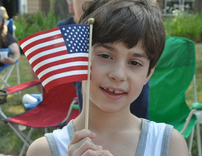 Vincenzo LaPilusa shares his patriotic spirit.