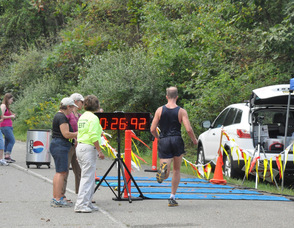 Jeff Staple, in second place for the 10K.